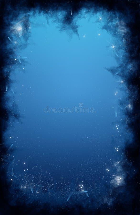 Starry night sky background royalty free illustration