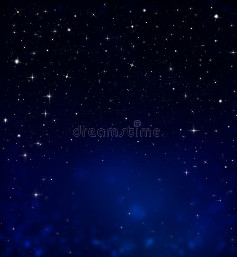 Starry night sky. Beautiful background of the night sky with stars vector illustration