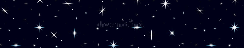 Starry night sky. stock illustration