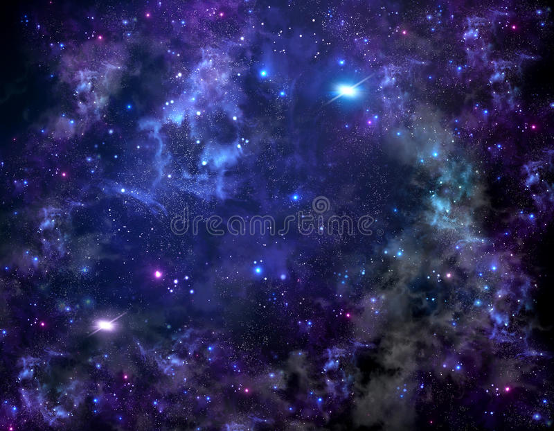 Download Starry Night Sky Deep Outer Space Stock Illustration