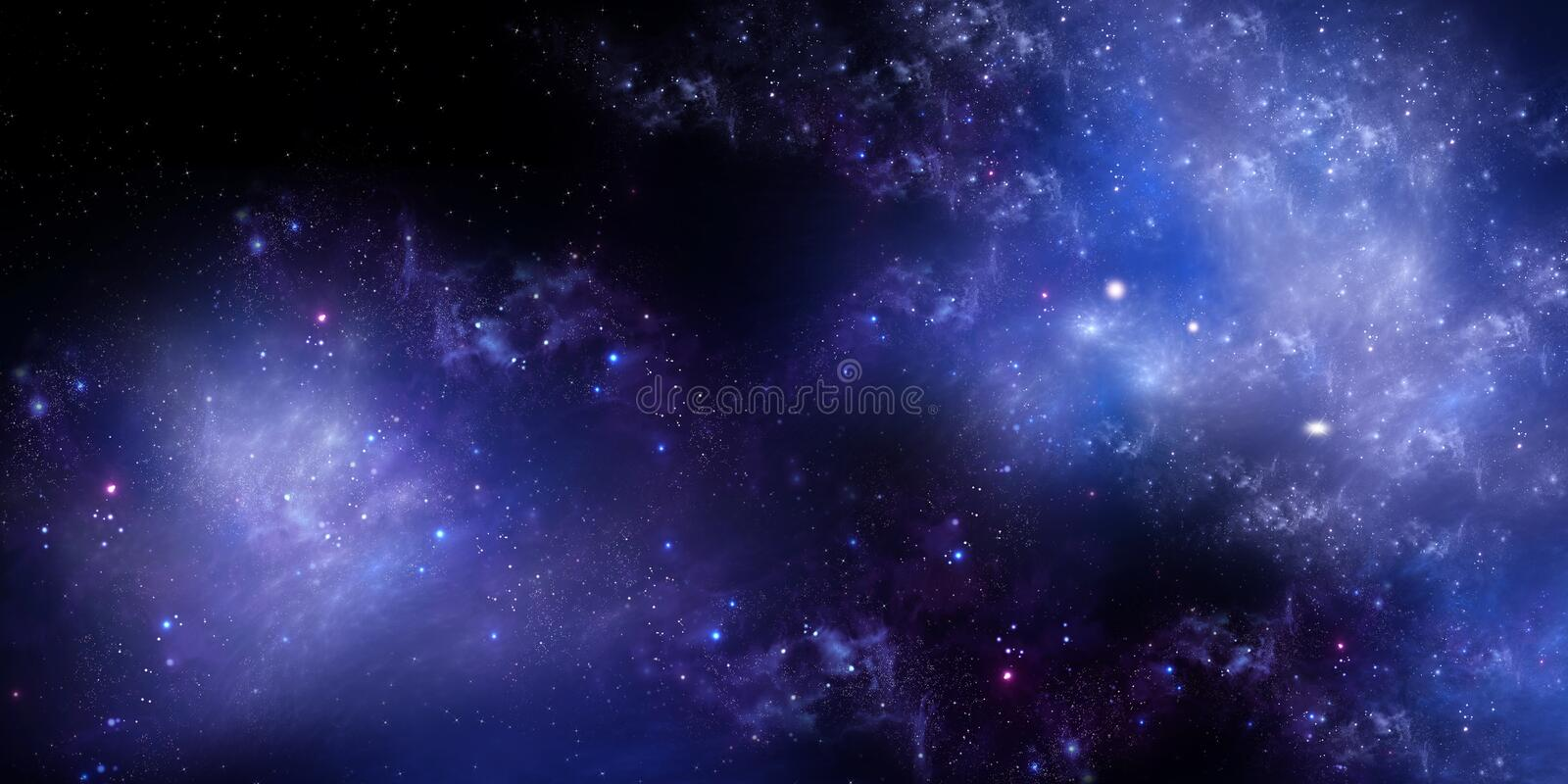 Starry night sky deep outer space royalty free stock photos
