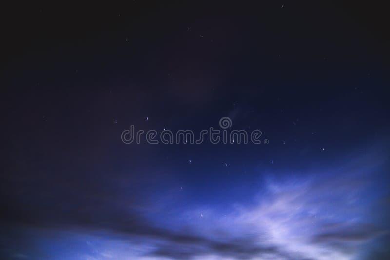 Starry night sky at Myllysaari, Lahti Finland stock photos
