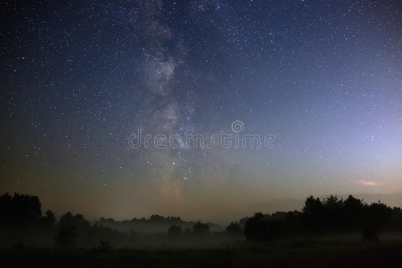 Starry night sky in the northern hemisphere. royalty free stock image