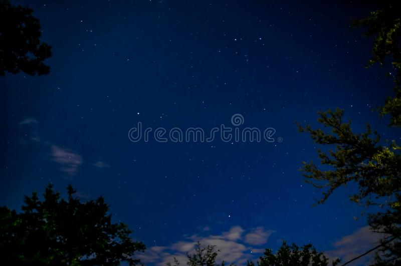 Starry Nights. Outside my house with my nikon d300 stock photo