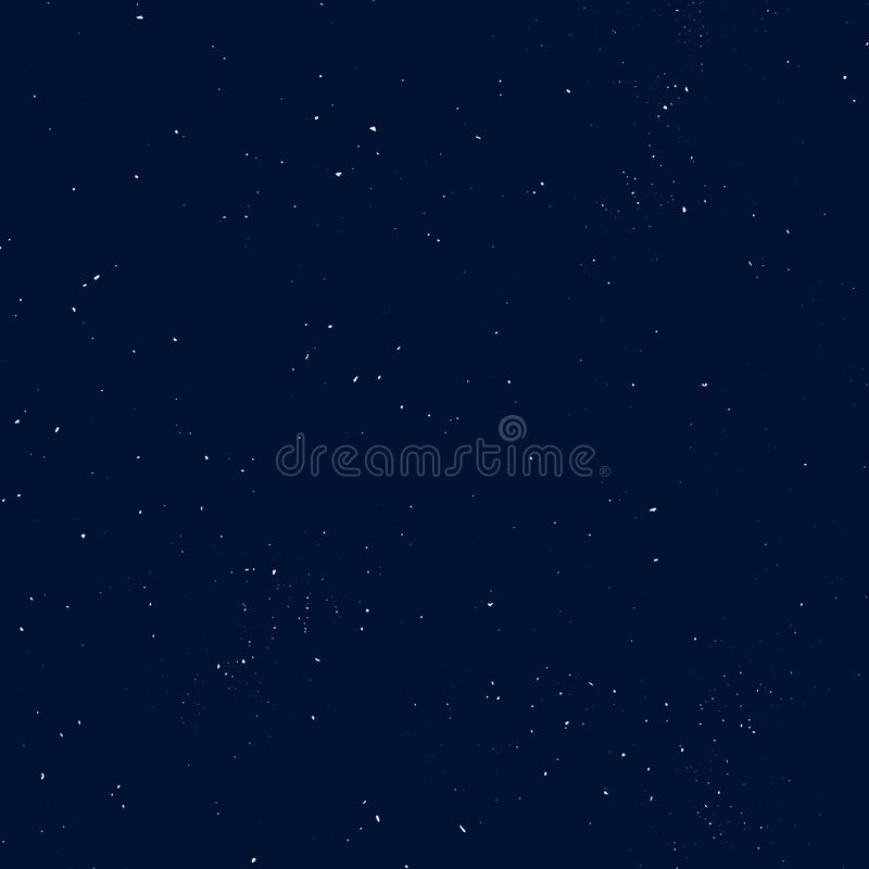 Starry seamless pattern, splashed hand draw universe and galaxy repeatable pattern. Dots, spray paint on dark background vector illustration
