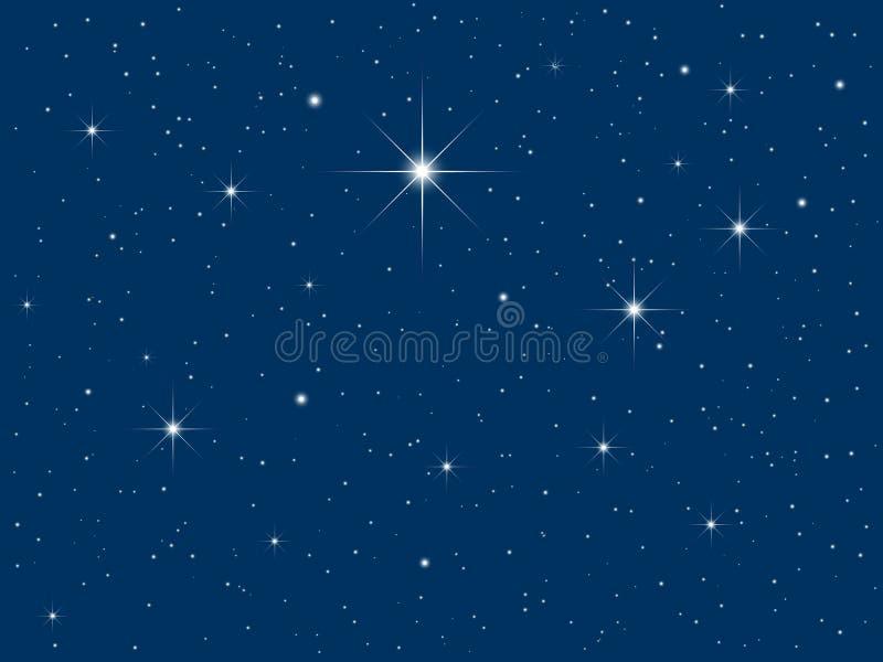 Starry sky stock illustration