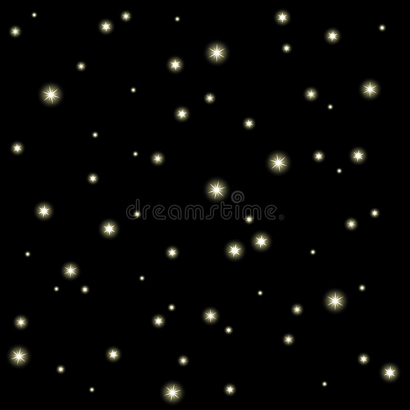 starry sky stock illustrationer