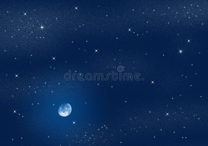 Download Starry Sky stock illustration. Image of heaven, peaceful - 3638274