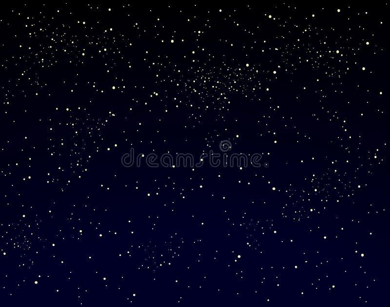 Starry sky royalty free illustration