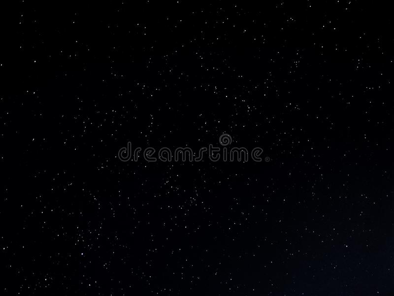 Starry sky background with long exposure stock photo