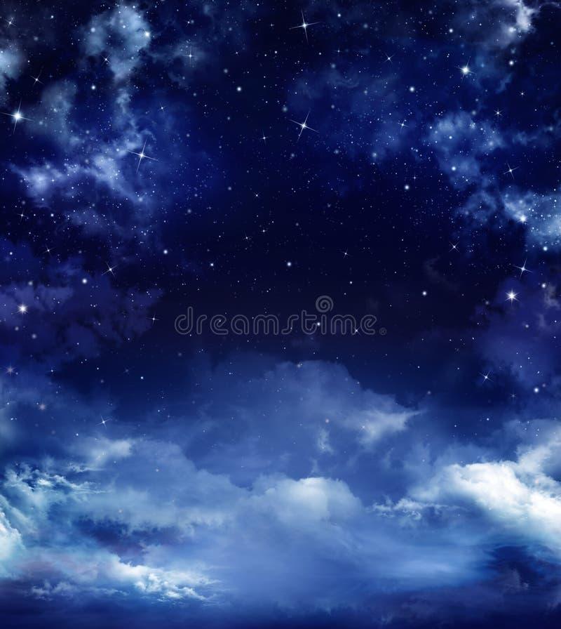 Starry sky. Beautiful starry sky, space background stock illustration