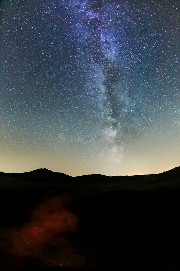 Starry Sky LAndscape stock photography