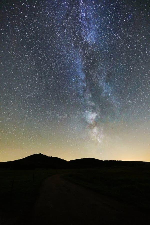 Starry Sky LAndscape stock photo