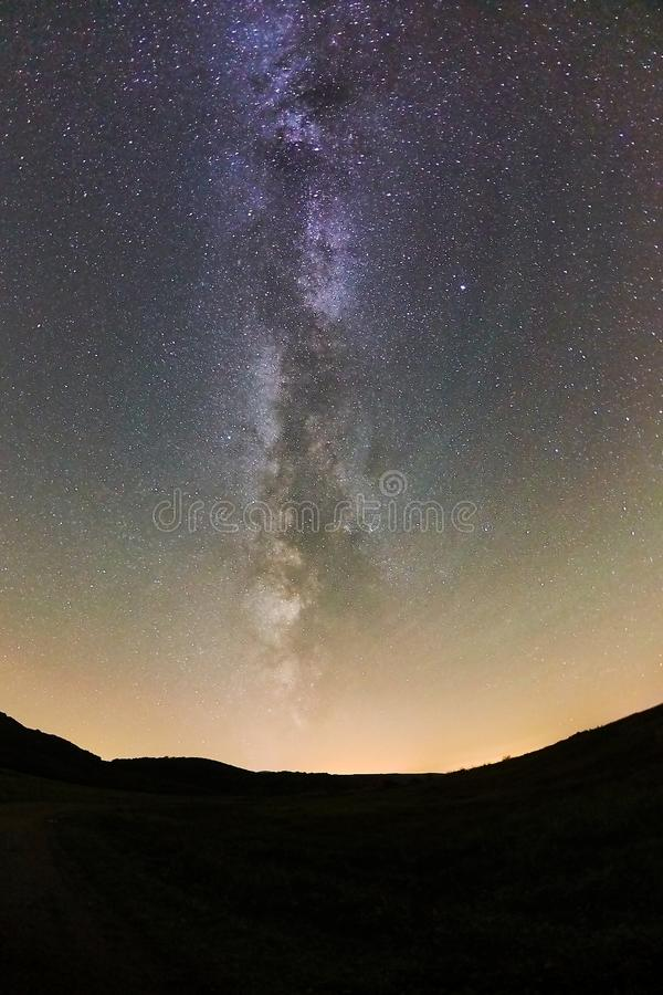 Starry Sky LAndscape royalty free stock photo