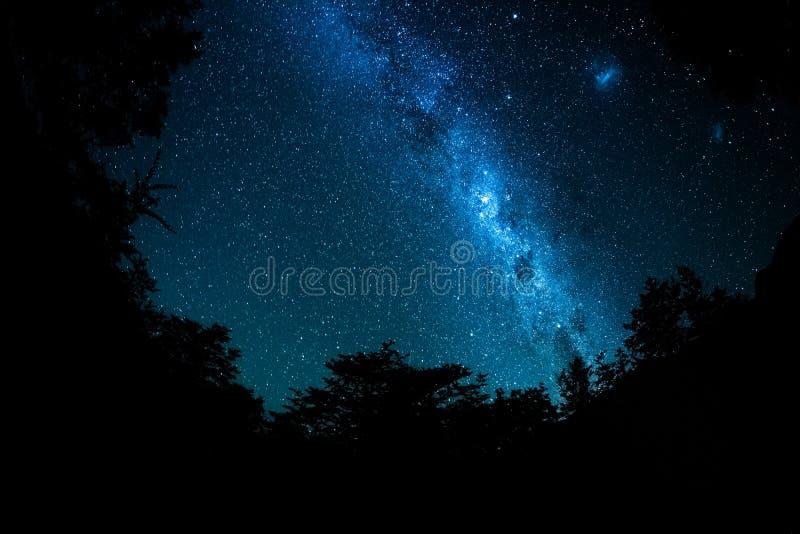 Starry sky and Milky Way galaxy royalty free stock photo