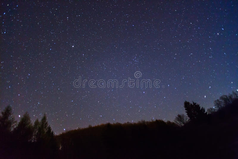 Starry sky royalty free stock image