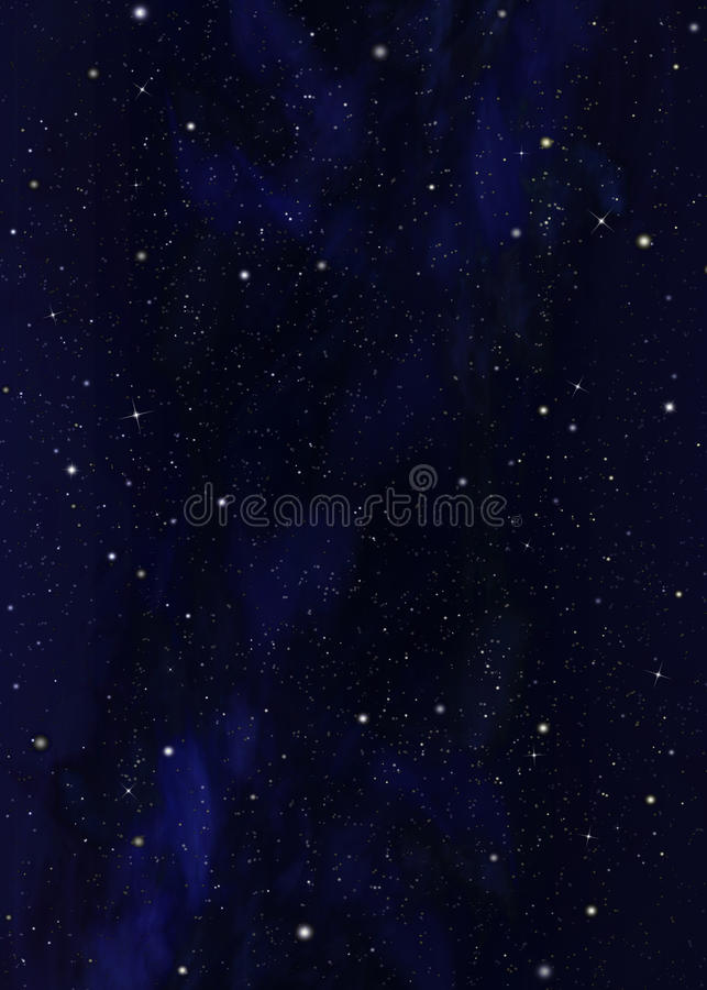 Starry sky. In the open space royalty free illustration