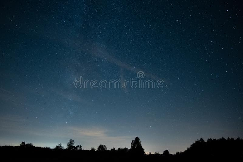 Starry sky with stars, dark royalty free stock image