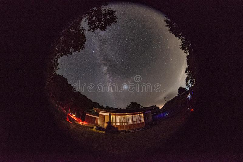 The starry sky of Tatagar is beautiful royalty free stock images