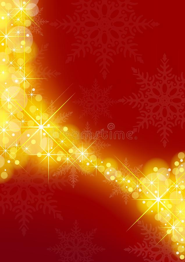 Starry Xmas Background vector illustration