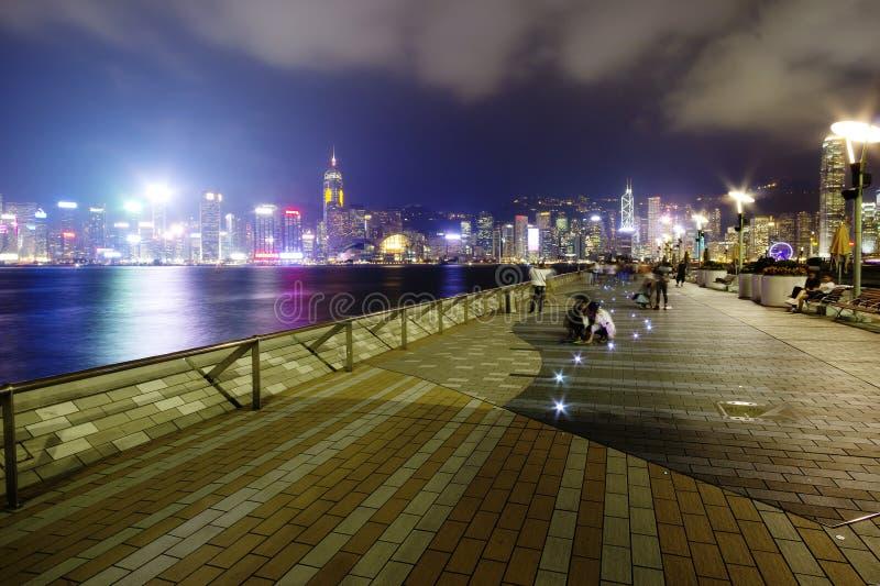 "Stars†香港,中国,香港""Avenue在维多利亚港口江边的  库存图片"