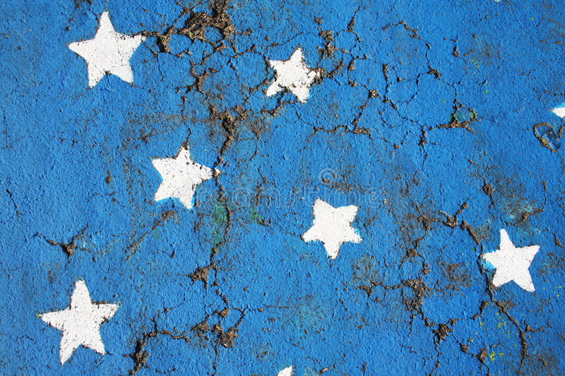 Stars. Painted in the street royalty free stock photography