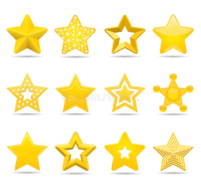 Download Stars stock vector. Image of metal, sheriff, rating, quality - 20914261