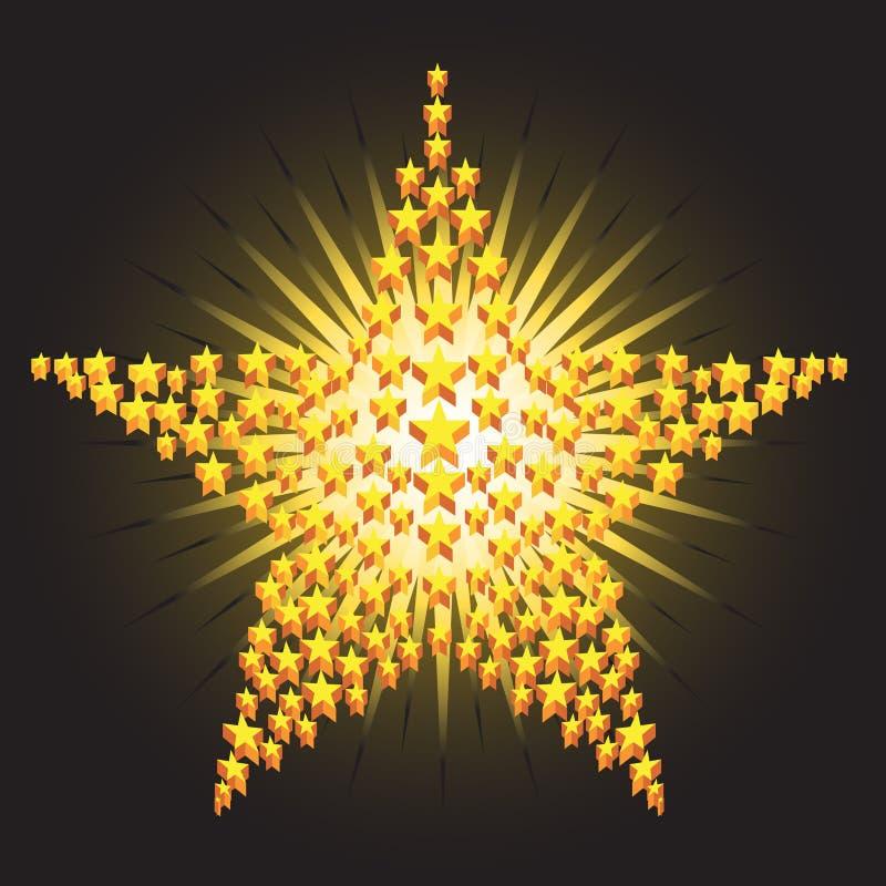 Stars 3D ilustração do vetor
