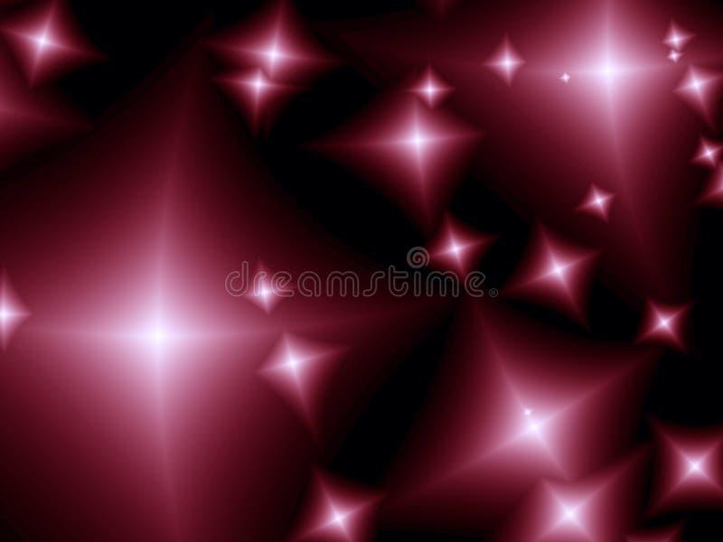 Stars. Beautiful abstract stars. Fractal image stock illustration