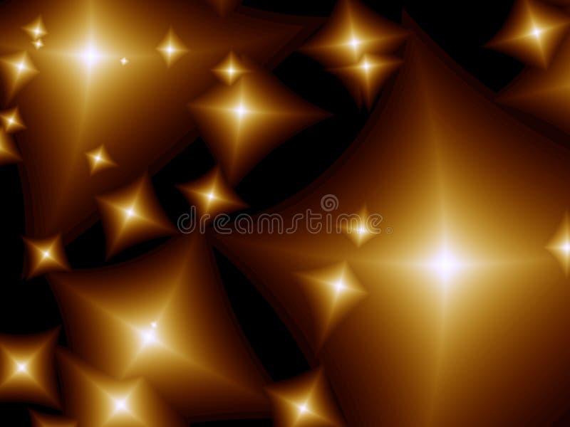 Stars. Beautiful abstract stars. Fractal image vector illustration
