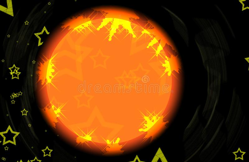 Download Stars stock illustration. Image of shiny, orange, star - 5191209
