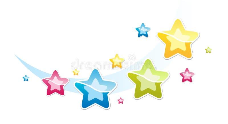 Stars. Illustration with many-coloured stars vector illustration