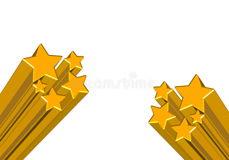 Stars. 3d stars on isolated background royalty free illustration