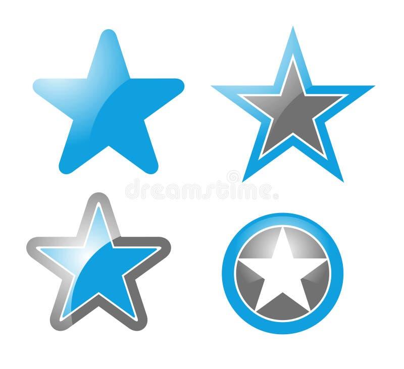 Star icons stars vector illustration