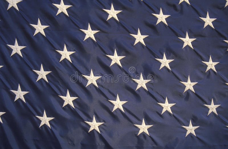 Stars on an American Flag. Close-up of the Stars on an American Flag, United States stock photos
