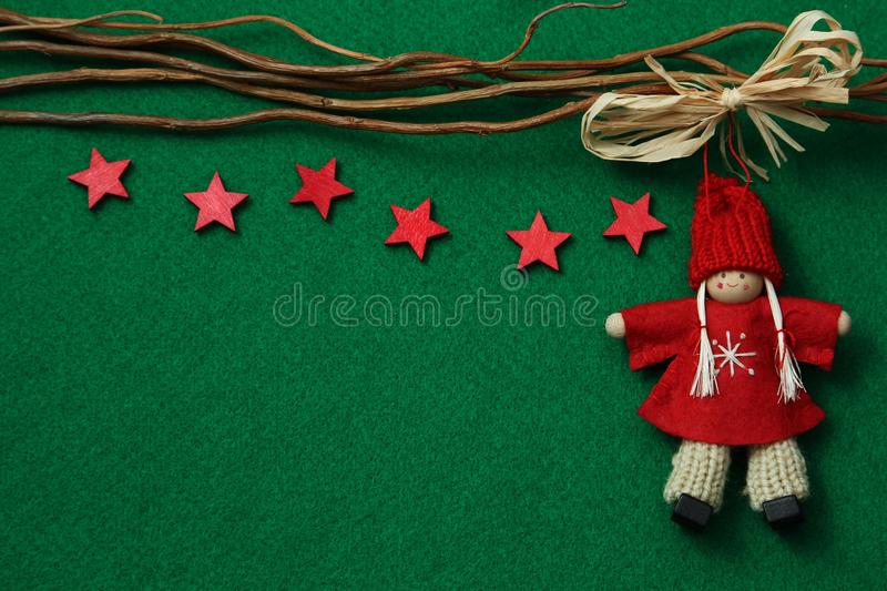 Download Stars And Angel On Felt Background Stock Photo - Image: 27916900