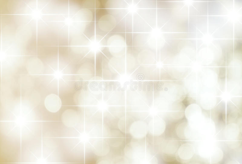 Silver Stars Background. Muted background of stars and light spots