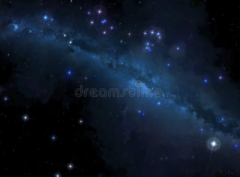 Stars background with milky way stock photo