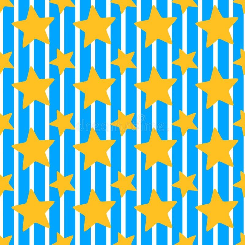 Download Stars Background Seamless Pattern Stock Illustration - Illustration: 74717261