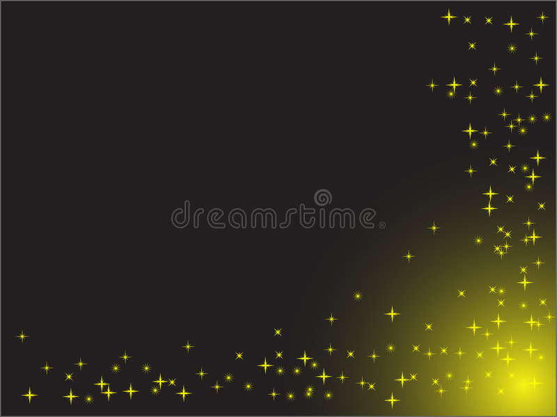 Stars on the black background vector illustration