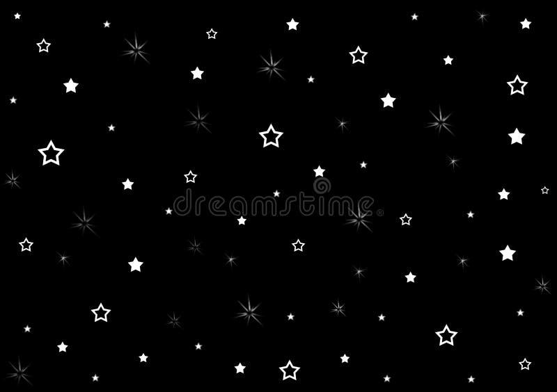 Stars On Black Background Wallpaper Design Stock
