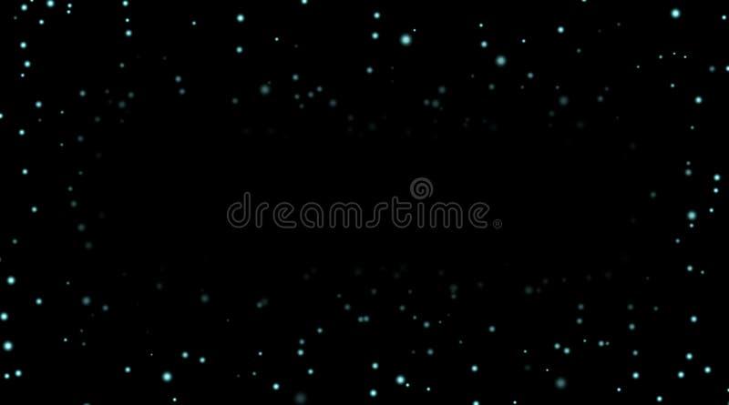 Stars on black night background. Night sky with blue stars on black background. Dark astronomy space template. Galaxy starry pattern wallpaper. Shiny stars stock illustration