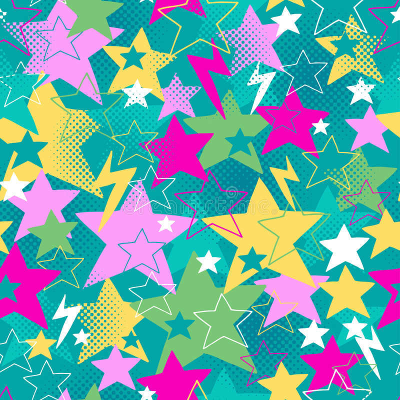 Download Stars And Bolts Seamless Repeat Pattern Vector Stock Vector - Image: 6673413