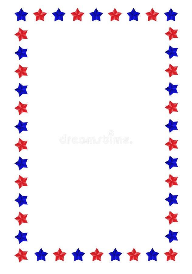 Stars border vector illustration