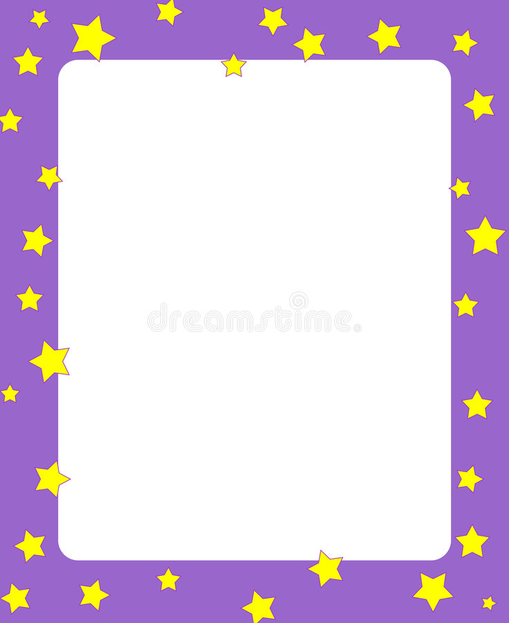 Stars Border / Frame Royalty Free Stock Photo