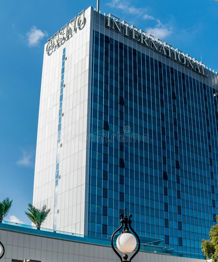5 stars Casino International Hotel tower in Golden Sands, Bulgaria royalty free stock photography