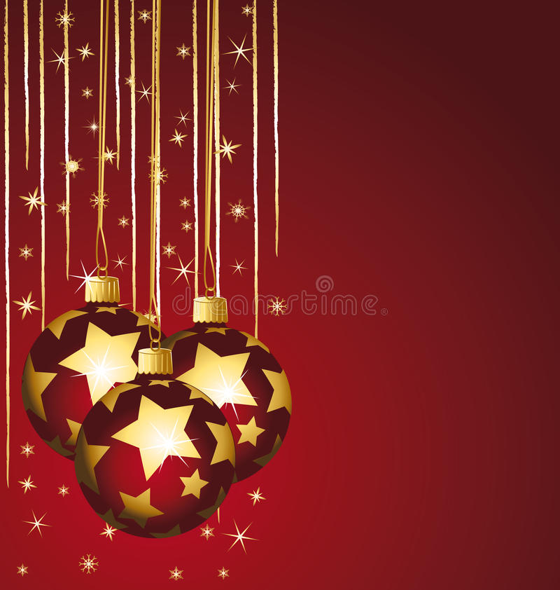 Stars Christmas Balls Royalty Free Stock Photography