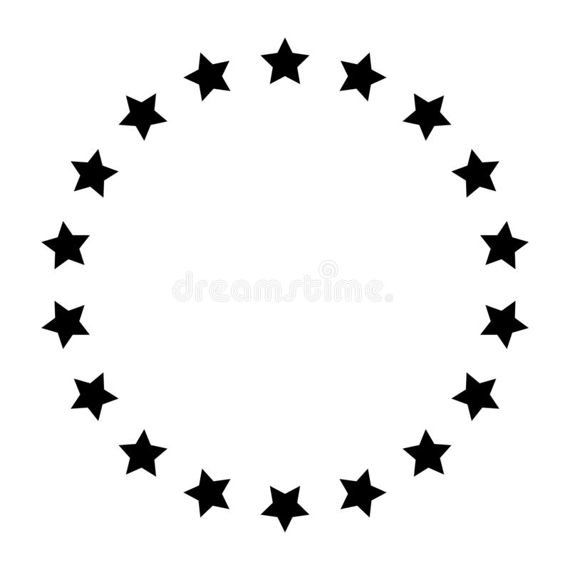 Stars in circle icon vector illustration graphic design. Vector illustration isolated on white background royalty free illustration