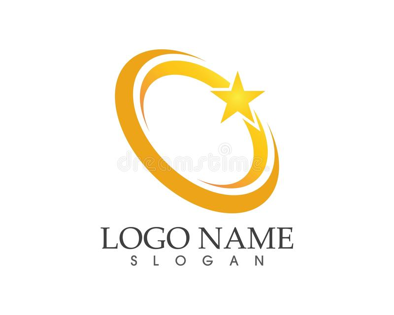 Stars circle logo design vector template royalty free illustration