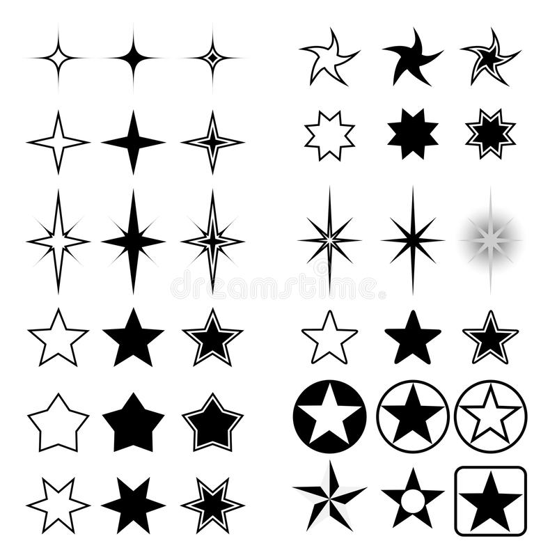Stars collection stock illustration